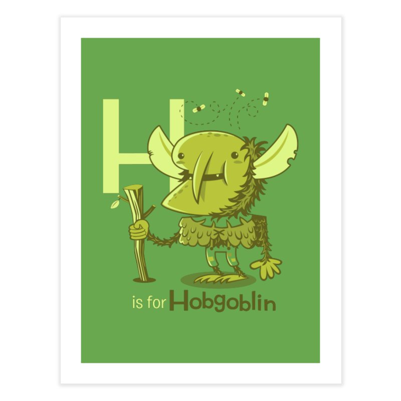 H is for Hobgoblin — No Fart Home Fine Art Print by Hazy Dell Press