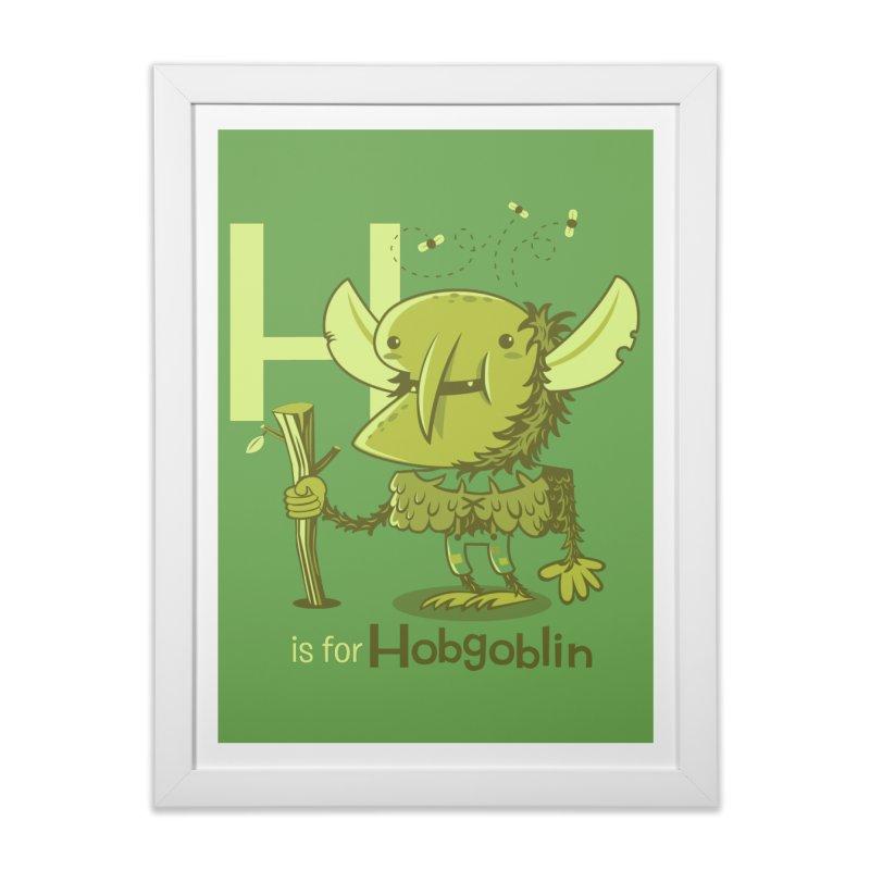 H is for Hobgoblin — No Fart Home Framed Fine Art Print by Hazy Dell Press