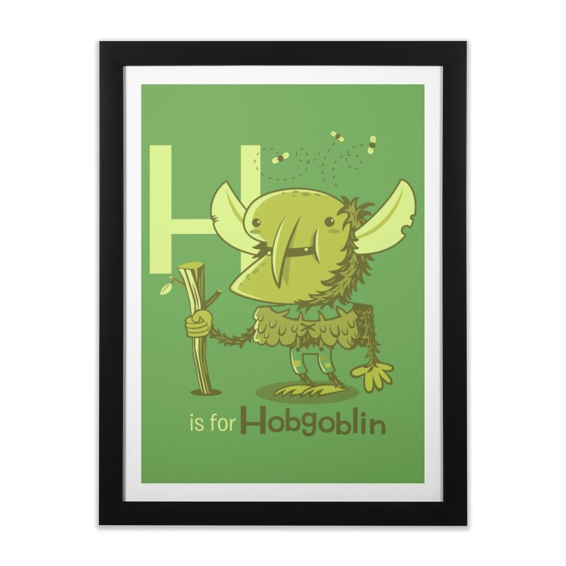 H is for Hobgoblin — No Fart Home Framed Fine Art Print by Hazy Dell Press