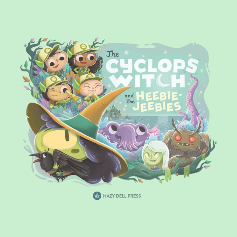 The Cyclops Witch and the Heebie-Jeebies Home Stretched Canvas by Hazy Dell Press
