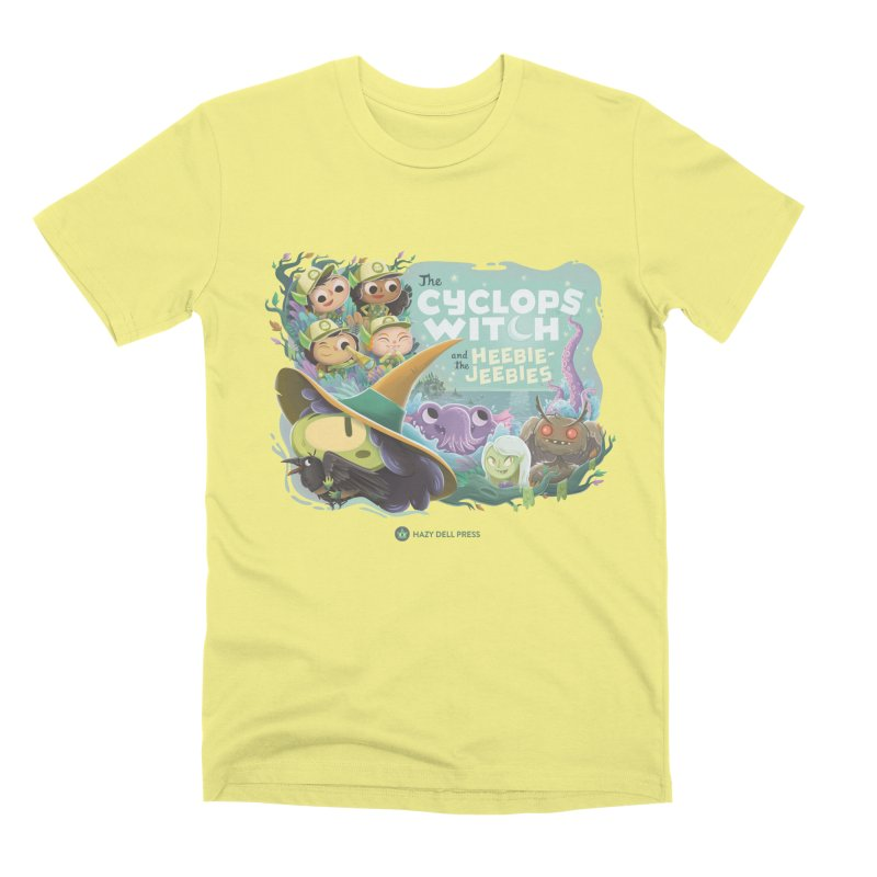 The Cyclops Witch and the Heebie-Jeebies in Men's Premium T-Shirt Canary by Hazy Dell Press