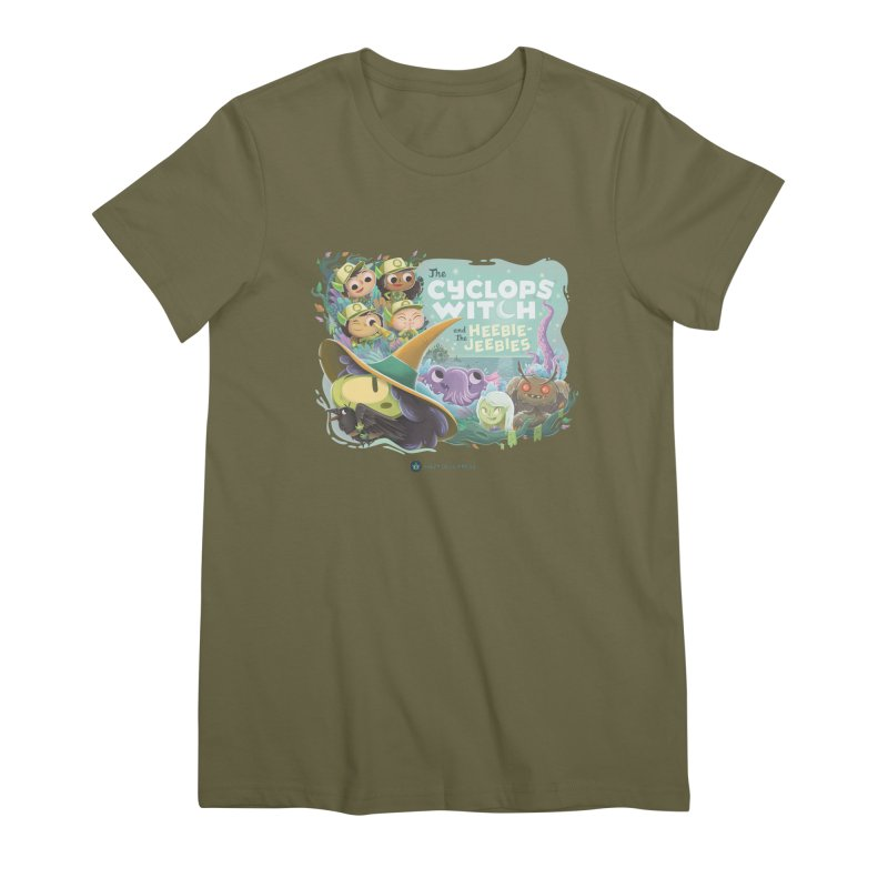 The Cyclops Witch and the Heebie-Jeebies Women's Premium T-Shirt by Hazy Dell Press