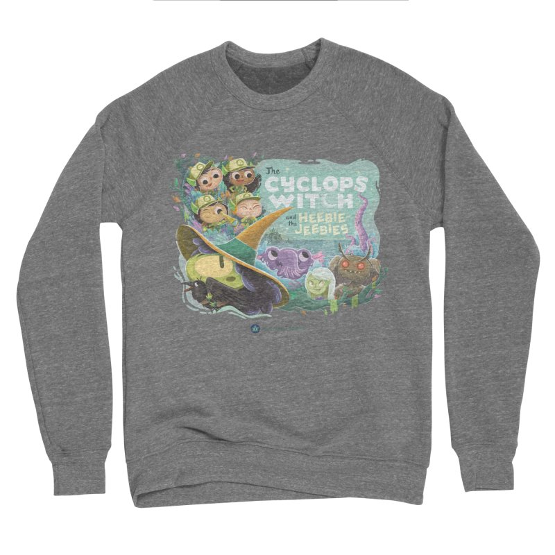 The Cyclops Witch and the Heebie-Jeebies Men's Sponge Fleece Sweatshirt by Hazy Dell Press