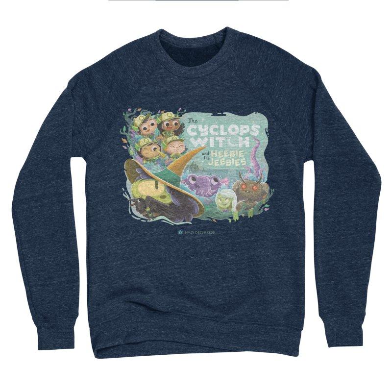 The Cyclops Witch and the Heebie-Jeebies Men's Sponge Fleece Sweatshirt by Hazy Dell Press