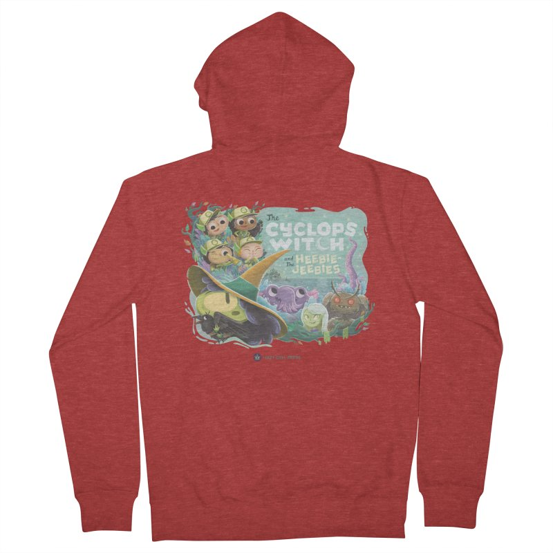 The Cyclops Witch and the Heebie-Jeebies Women's French Terry Zip-Up Hoody by Hazy Dell Press