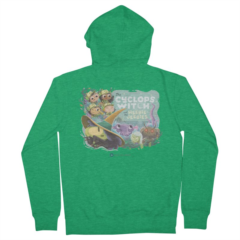 The Cyclops Witch and the Heebie-Jeebies Men's Zip-Up Hoody by Hazy Dell Press