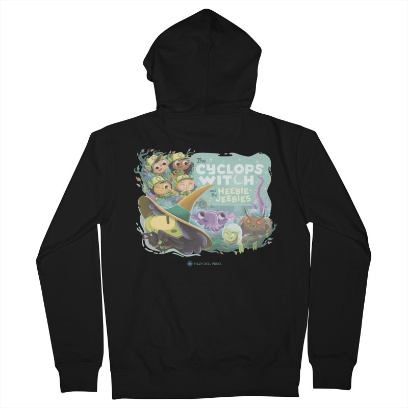 The Cyclops Witch and the Heebie-Jeebies Men's French Terry Zip-Up Hoody by Hazy Dell Press