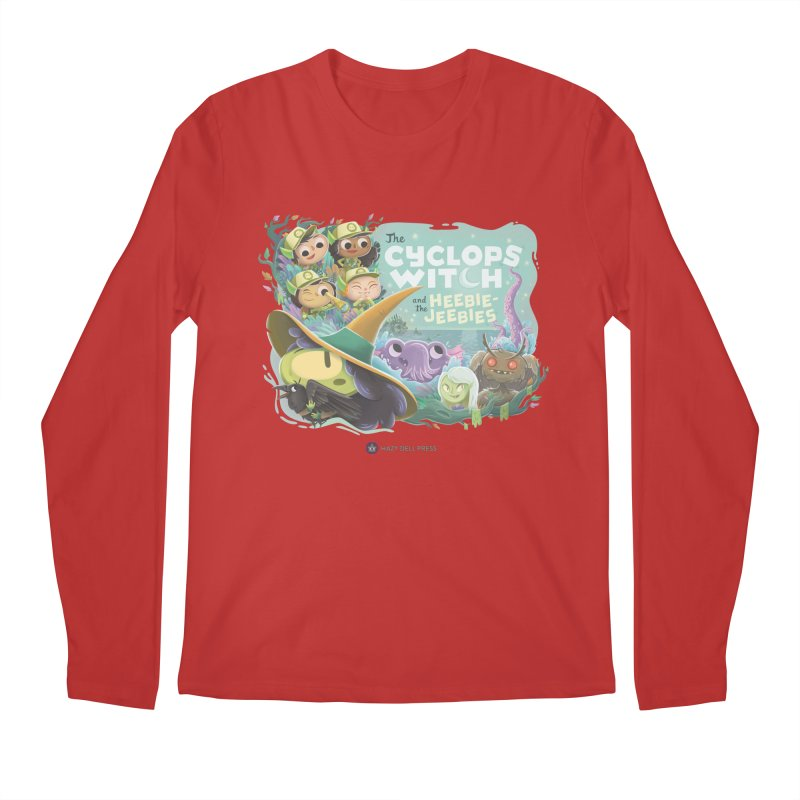 The Cyclops Witch and the Heebie-Jeebies Men's Regular Longsleeve T-Shirt by Hazy Dell Press