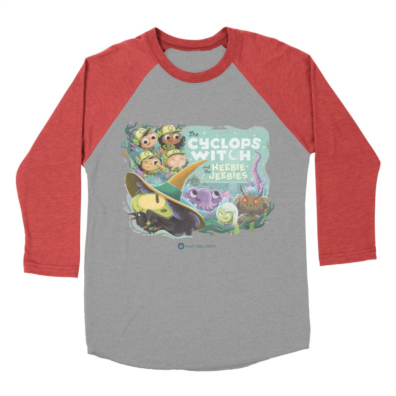 The Cyclops Witch and the Heebie-Jeebies Women's Baseball Triblend Longsleeve T-Shirt by Hazy Dell Press