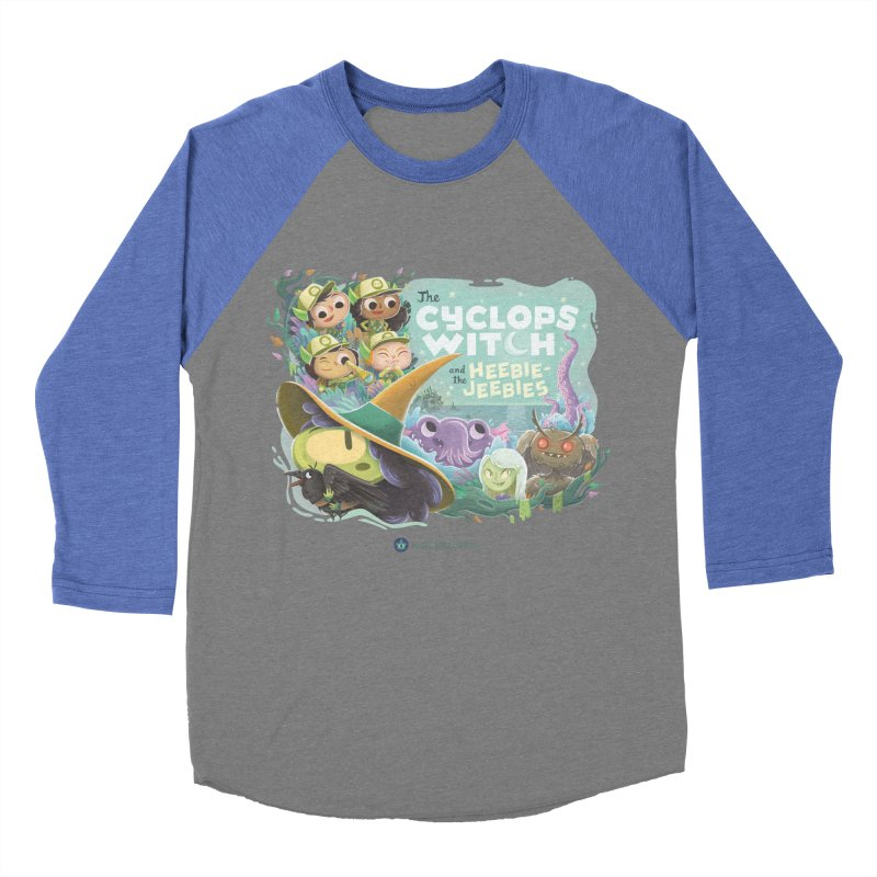 The Cyclops Witch and the Heebie-Jeebies Men's Baseball Triblend Longsleeve T-Shirt by Hazy Dell Press