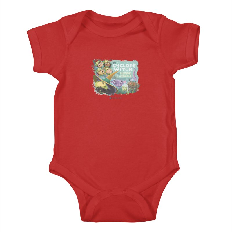 The Cyclops Witch and the Heebie-Jeebies Kids Baby Bodysuit by Hazy Dell Press