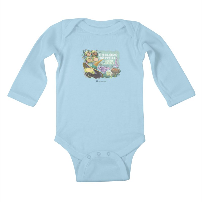 The Cyclops Witch and the Heebie-Jeebies Kids Baby Longsleeve Bodysuit by Hazy Dell Press