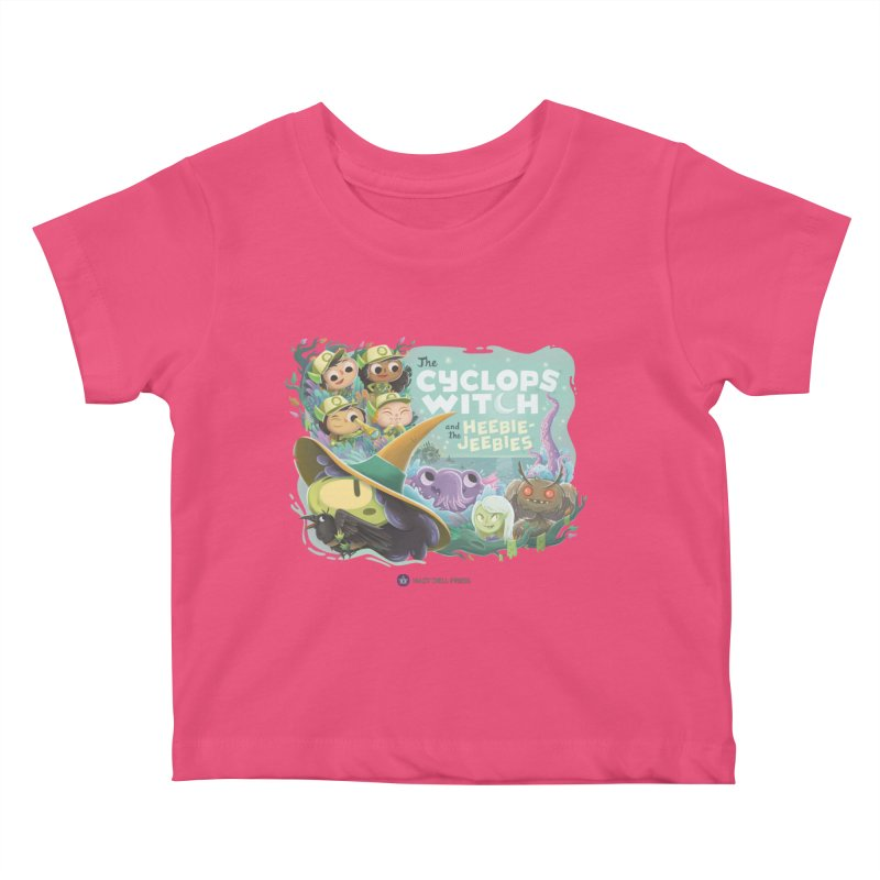 The Cyclops Witch and the Heebie-Jeebies Kids Baby T-Shirt by Hazy Dell Press