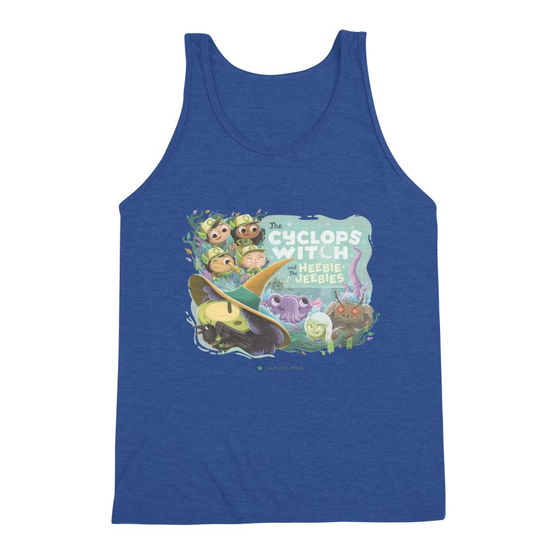 The Cyclops Witch and the Heebie-Jeebies Men's Triblend Tank by Hazy Dell Press