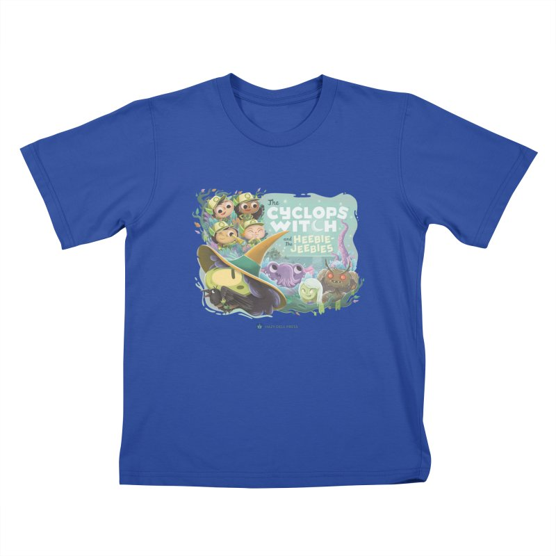 The Cyclops Witch and the Heebie-Jeebies Kids T-Shirt by Hazy Dell Press