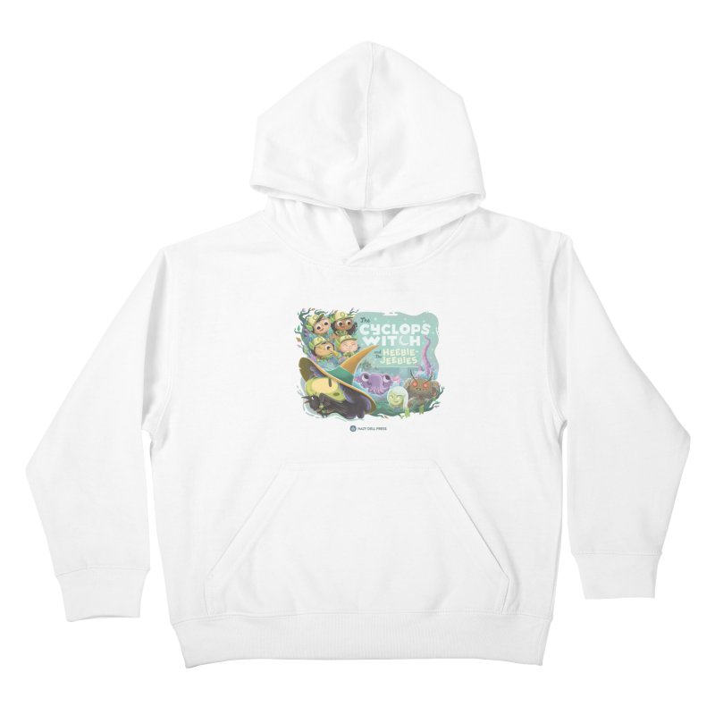 The Cyclops Witch and the Heebie-Jeebies Kids Pullover Hoody by Hazy Dell Press