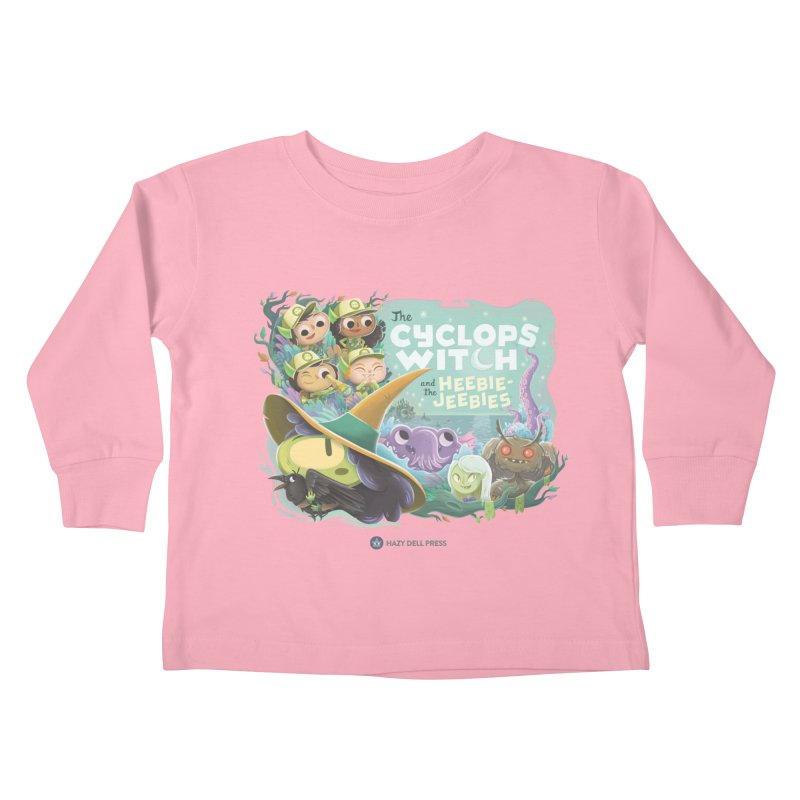 The Cyclops Witch and the Heebie-Jeebies Kids Toddler Longsleeve T-Shirt by Hazy Dell Press
