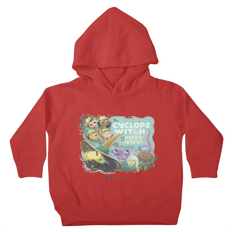The Cyclops Witch and the Heebie-Jeebies Kids Toddler Pullover Hoody by Hazy Dell Press