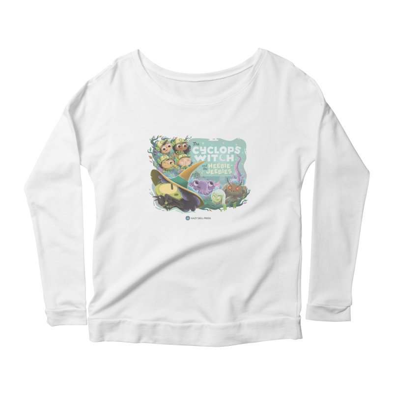 The Cyclops Witch and the Heebie-Jeebies Women's Scoop Neck Longsleeve T-Shirt by Hazy Dell Press