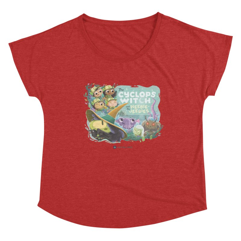The Cyclops Witch and the Heebie-Jeebies Women's Dolman Scoop Neck by Hazy Dell Press