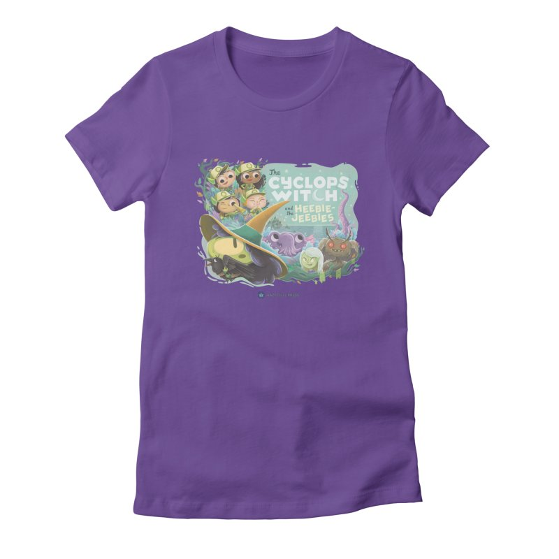 The Cyclops Witch and the Heebie-Jeebies Women's Fitted T-Shirt by Hazy Dell Press