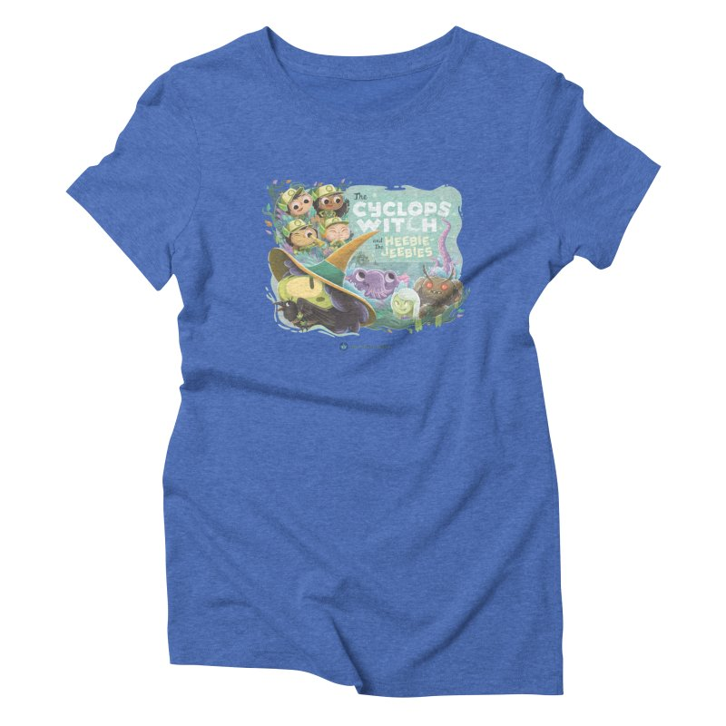 The Cyclops Witch and the Heebie-Jeebies Women's Triblend T-Shirt by Hazy Dell Press