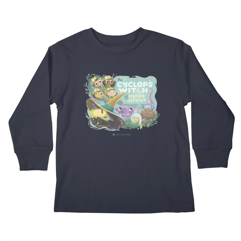 The Cyclops Witch and the Heebie-Jeebies Kids Longsleeve T-Shirt by Hazy Dell Press