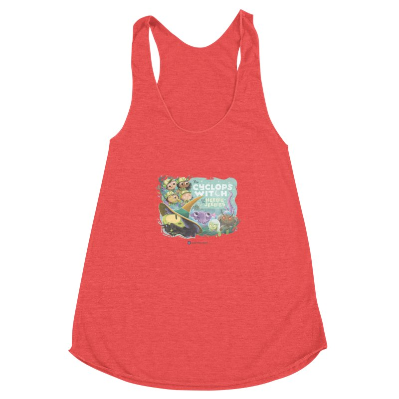 The Cyclops Witch and the Heebie-Jeebies Women's Racerback Triblend Tank by Hazy Dell Press