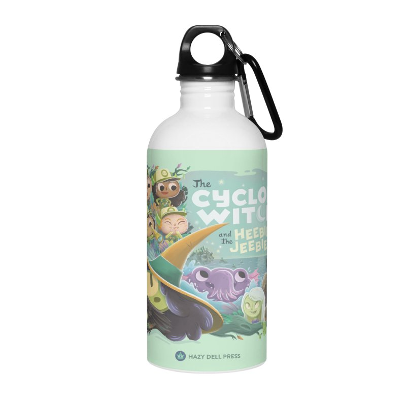 The Cyclops Witch and the Heebie-Jeebies Accessories Water Bottle by Hazy Dell Press