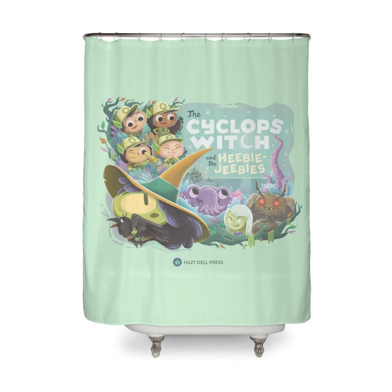 The Cyclops Witch and the Heebie-Jeebies Home Shower Curtain by Hazy Dell Press