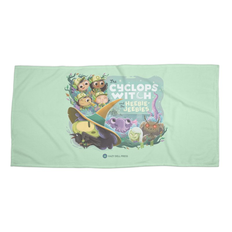 The Cyclops Witch and the Heebie-Jeebies Accessories Beach Towel by Hazy Dell Press