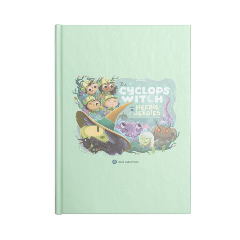 The Cyclops Witch and the Heebie-Jeebies Accessories Lined Journal Notebook by Hazy Dell Press