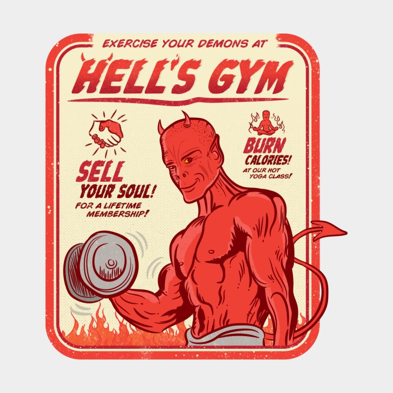 Exercise Your Demons! by HB Design's Shop