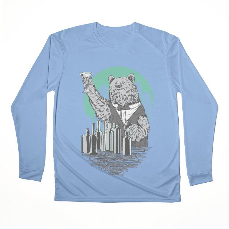 Beartender in green Women's Performance Unisex Longsleeve T-Shirt by hd's Artist Shop