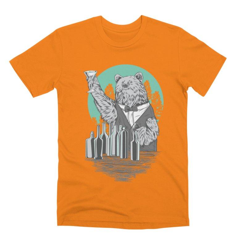 Beartender in green Men's Premium T-Shirt by hd's Artist Shop