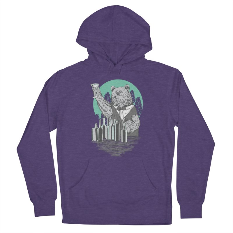 Beartender in green Men's French Terry Pullover Hoody by hd's Artist Shop