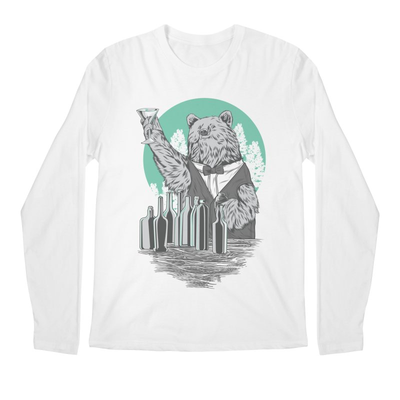 Beartender in green Men's Regular Longsleeve T-Shirt by hd's Artist Shop