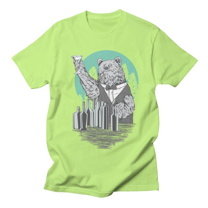 Beartender in green Women's Regular Unisex T-Shirt by hd's Artist Shop
