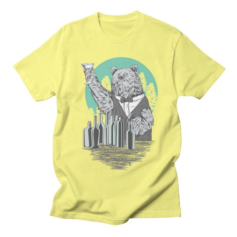 Beartender in green Men's Regular T-Shirt by hd's Artist Shop