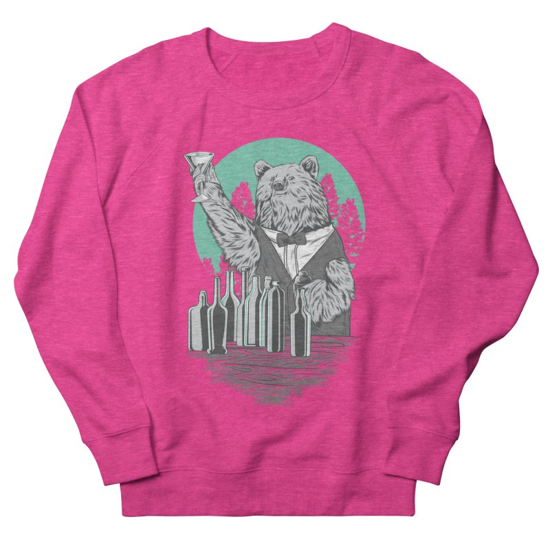Beartender in green Women's French Terry Sweatshirt by hd's Artist Shop