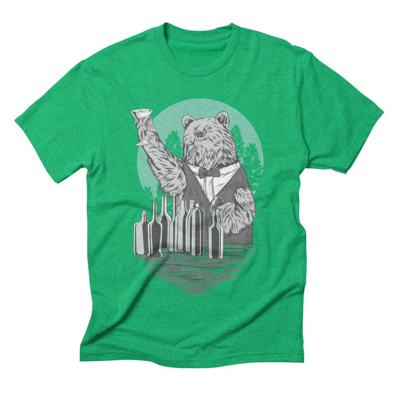 Beartender in green Men's Triblend T-Shirt by hd's Artist Shop