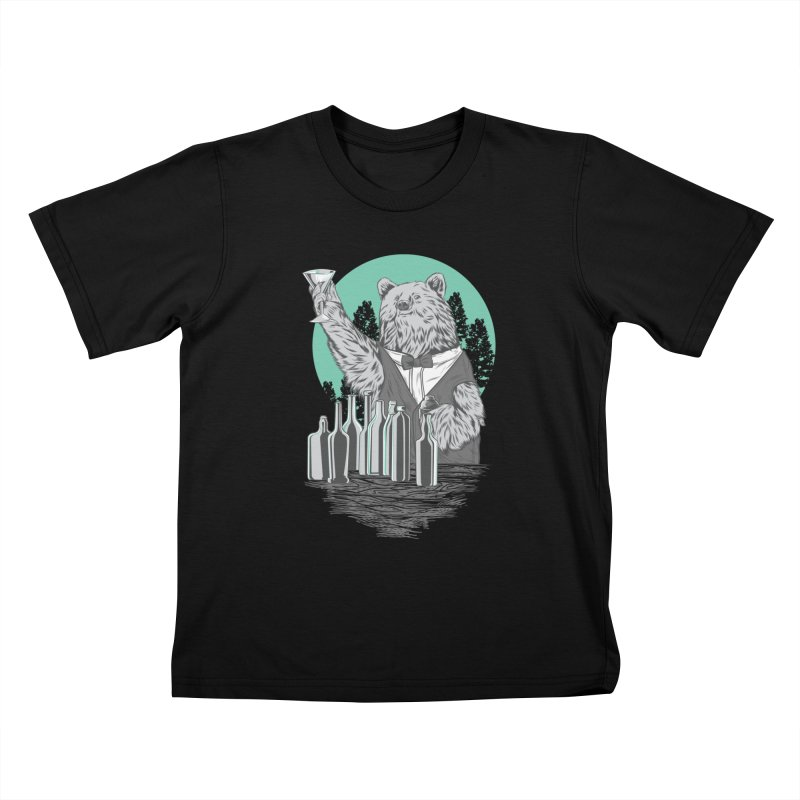 Beartender in green Kids T-Shirt by hd's Artist Shop