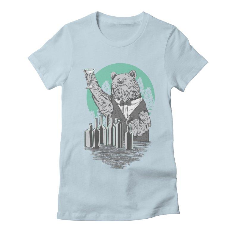 Beartender in green Women's Fitted T-Shirt by hd's Artist Shop