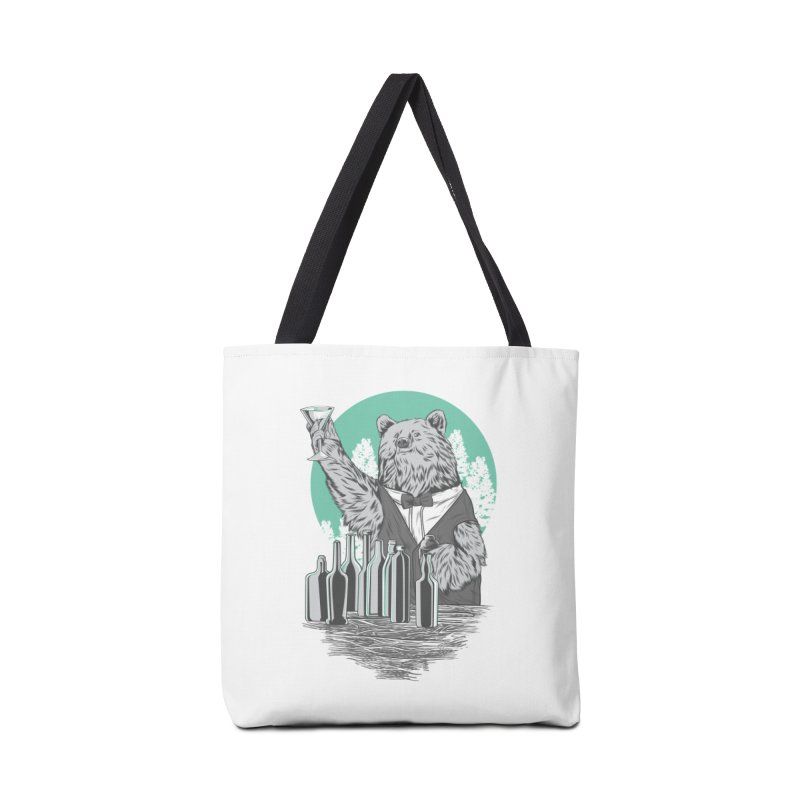 Beartender in green Accessories Bag by hd's Artist Shop