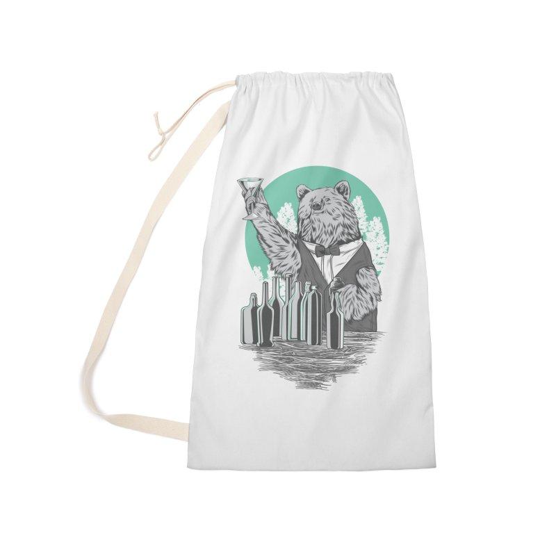 Beartender in green Accessories Bag by hd's Artist Shop