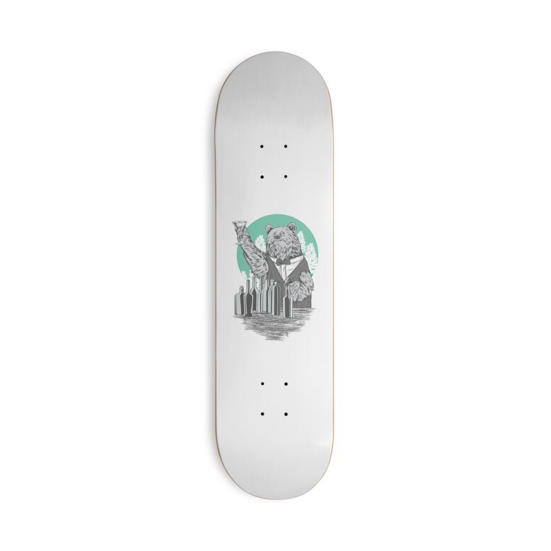 Beartender in green Accessories Skateboard by hd's Artist Shop