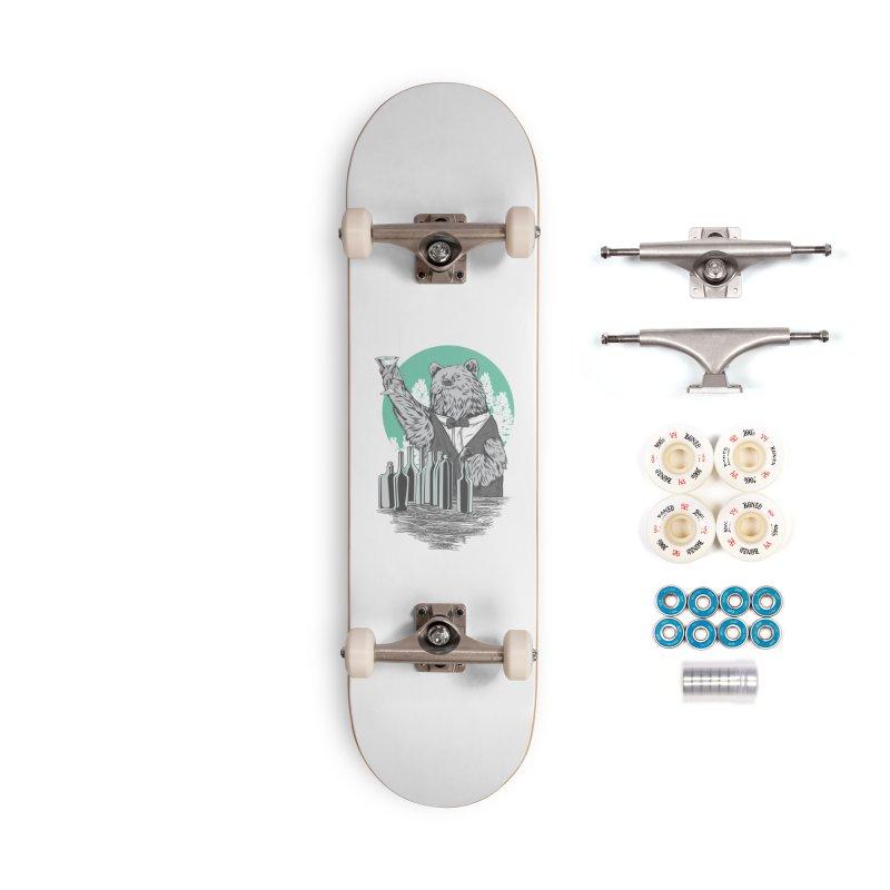 Beartender in green Accessories Complete - Premium Skateboard by hd's Artist Shop