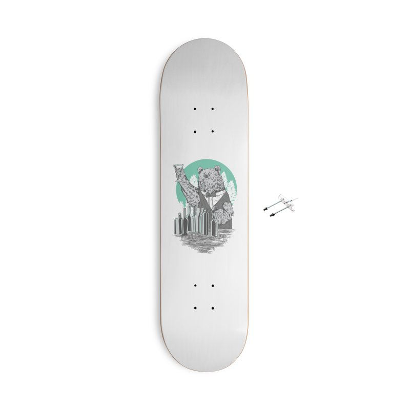 Beartender in green Accessories With Hanging Hardware Skateboard by hd's Artist Shop