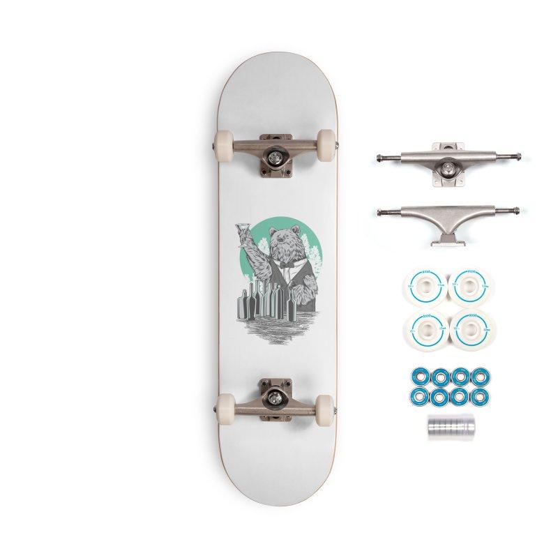 Beartender in green Accessories Complete - Basic Skateboard by hd's Artist Shop