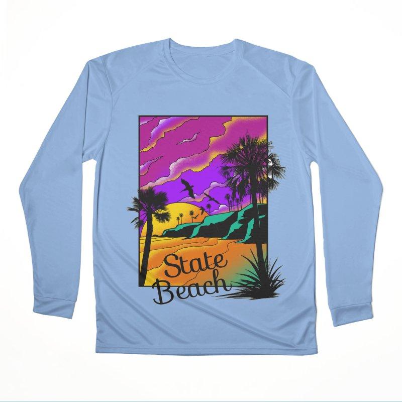 sunset and beach Women's Longsleeve T-Shirt by hd's Artist Shop